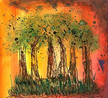 Forest on fire or African sunset by Rosie Rowe