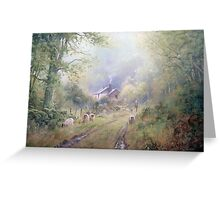 Wooded Lane Greeting Card