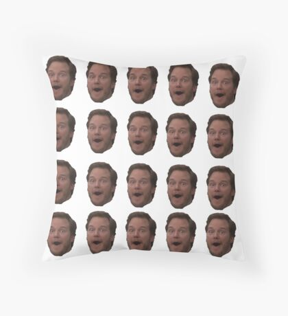 Andy head Throw Pillow