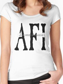 AFI  - Black Sails - Text  Women's Fitted Scoop T-Shirt