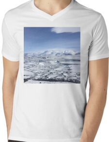 Iceland Photography Icy square  Mens V-Neck T-Shirt