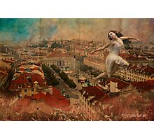 a Fairy on the roof... Photographic Print