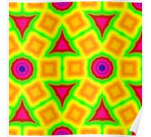 Colorful abstract modern pattern Poster
