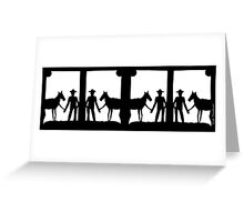 short story 1 - paper cutting series Greeting Card