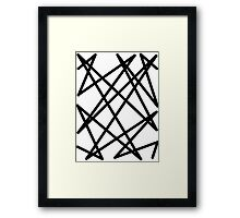 Black lines Framed Print