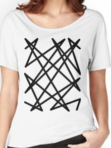 Black lines Women's Relaxed Fit T-Shirt