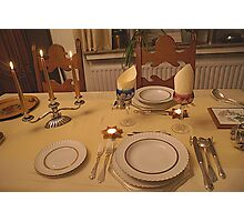 Christmas Table for two - Belgium Photographic Print