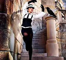 High Fashion Raven Fine Art Print by stockfineart