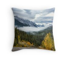 Maligne Lake Road Throw Pillow