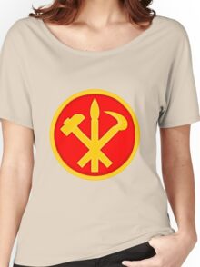 Workers Party of Korea emblem symbol Women's Relaxed Fit T-Shirt