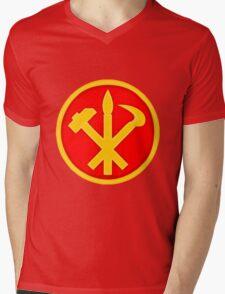 Workers Party of Korea emblem symbol Mens V-Neck T-Shirt
