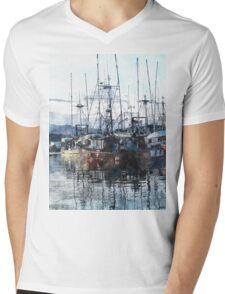 Prince Rupert Marina Watercolour Study Mens V-Neck T-Shirt