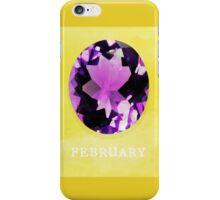 Watercolor Birthstone Gems, February iPhone Case/Skin