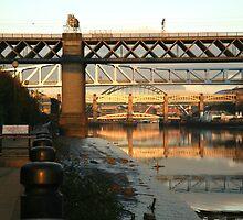 Sunset on the Quayside. Newcastle Upon Tyne. by KSMackin