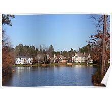 Homes On The Lake North Carolina Poster