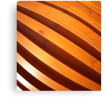 Wooden boards wall with wide angle fisheye view Canvas Print