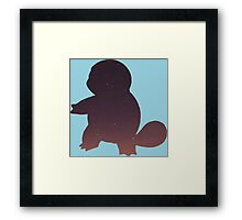 Pokemon - Space Squirtle Design Framed Print