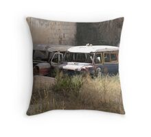 Busses only Throw Pillow