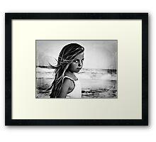 Summer Wind (BW) Framed Print