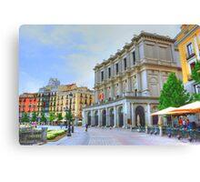 Madrid - Plaza de Oriente. Teatro Real. Canvas Print