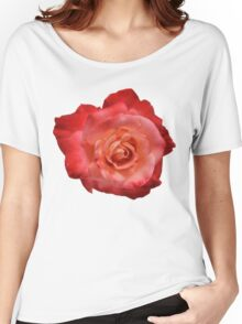 Ombré Red Garden Rose I - Hipster/Pretty/Trendy Flowers Women's Relaxed Fit T-Shirt