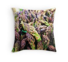 Asparagas In the Raw Throw Pillow