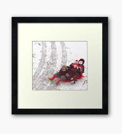 WINTER FUN Framed Print
