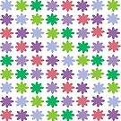 Colorful Flowers Pattern by ValeriesGallery