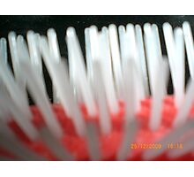 View of a hair brush Photographic Print