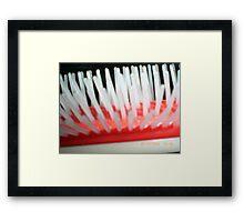 Hair brush Framed Print