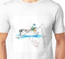 father and daughter drawing, happy fathers day Unisex T-Shirt