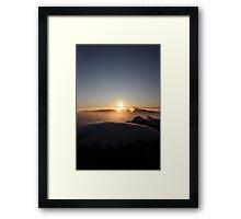 Misty Sunrise over Aberdeenshire Framed Print