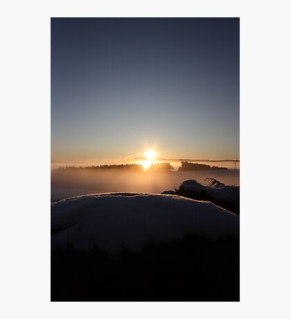 Misty Sunrise over Aberdeenshire Photographic Print