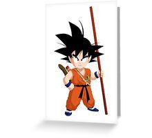 Kid Goku Greeting Card