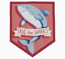 SAVE THE SHARKS PATCH Kids Clothes