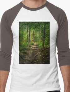 The Hidden Trails of the Old Forests Men's Baseball ¾ T-Shirt