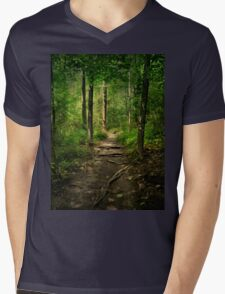 The Hidden Trails of the Old Forests Mens V-Neck T-Shirt