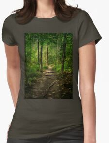The Hidden Trails of the Old Forests Womens Fitted T-Shirt