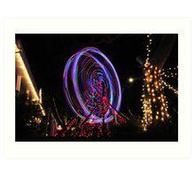 Xmas Ferris Wheel Art Print