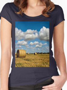 a beautiful Sweden landscape Women's Fitted Scoop T-Shirt