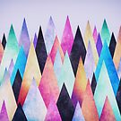 Colorful Abstract Geometric Triangle Peak Wood's  by badbugs
