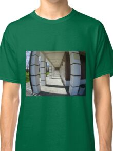 The facade of the city building Classic T-Shirt