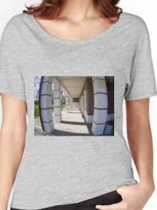 The facade of the city building Women's Relaxed Fit T-Shirt