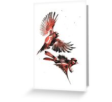 Cardinals Pew Pew Pewing... Greeting Card