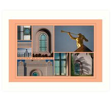 Newport Collage Art Print