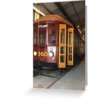 Tram 360 No 1 Greeting Card