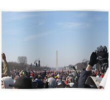 The Inauguration of Barack Obama facing the Washington Monument Poster