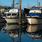 Fishing Boats at Rest by Sally Winter