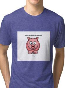 Cute Pig  Tri-blend T-Shirt