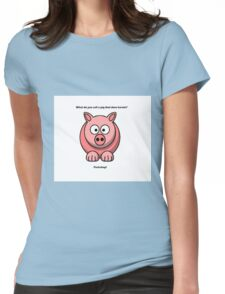 Cute Pig  Womens Fitted T-Shirt